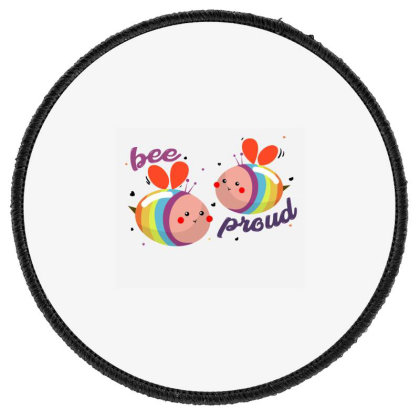 Bee Proud Round Patch Designed By Akin