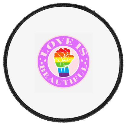 Love Is Beautiful Pride Month Round Patch Designed By Akin