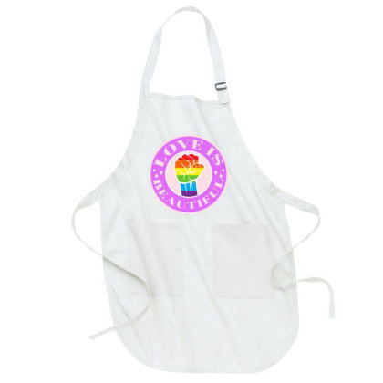 Love Is Beautiful Pride Month Full-length Apron Designed By Akin