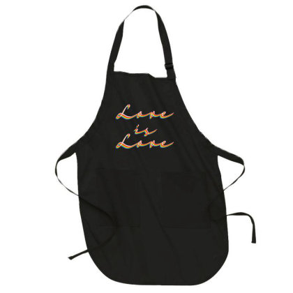 Love Is Love Full-length Apron Designed By Akin