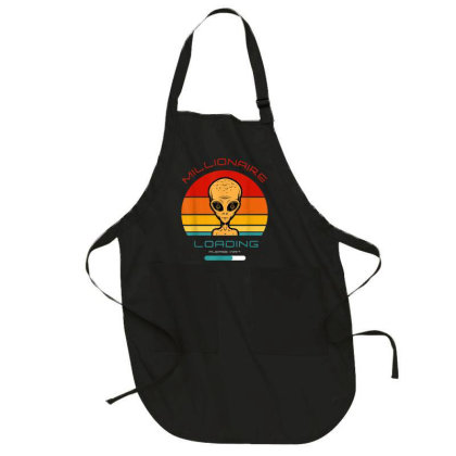 Blockchain Or Crypto Or Etherum Millionaire Or Alien Bitcoin Full-length Apron Designed By Koopshawneen
