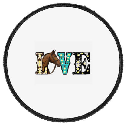 Love Horses Round Patch Designed By Badaudesign