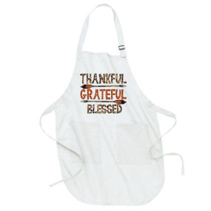 Thankfull Grateful Blessed Full-length Apron Designed By Badaudesign