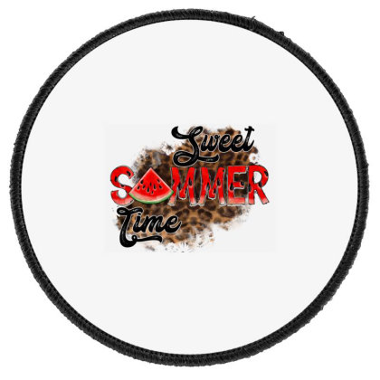 Sweet Summer Time Round Patch Designed By Badaudesign