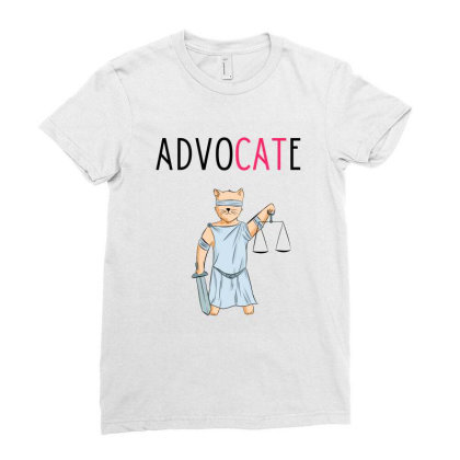 Advocate Illustration Ladies Fitted T-shirt Designed By Cypryanus