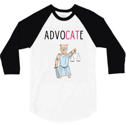Advocate Illustration 3/4 Sleeve Shirt Designed By Cypryanus