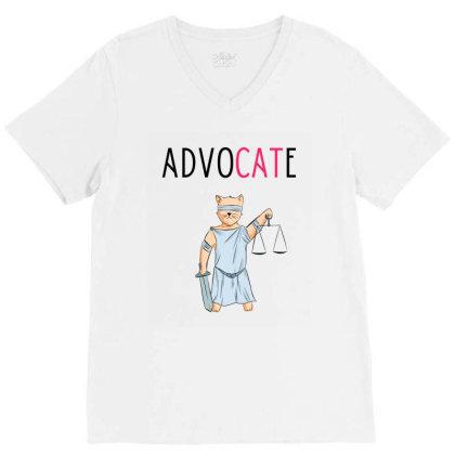 Advocate Illustration V-neck Tee Designed By Cypryanus