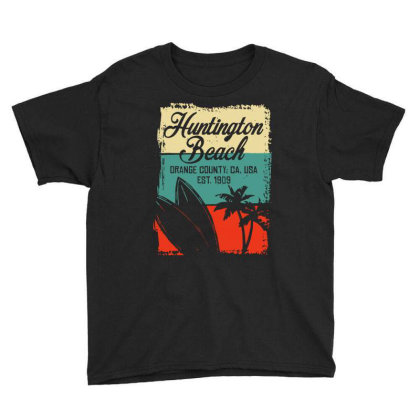 Cool Huntington Beach Surfing Competitions Youth Tee Designed By Scarlettzoe