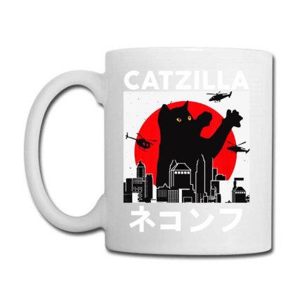 Catzilla   Summer Style Coffee Mug Designed By Scarlettzoe