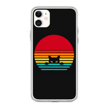 Cat Retro Vintage Sunset Iphone 11 Case Designed By Scarlettzoe