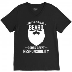 With Great Beard V-Neck Tee | Artistshot