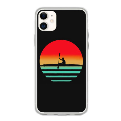 Vintage Retro Kayak Kayaking Sunset Hobby Iphone 11 Case Designed By Hot Maker