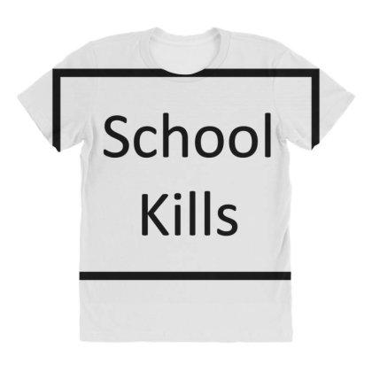 School Kills All Over Women's T-shirt Designed By Toldo