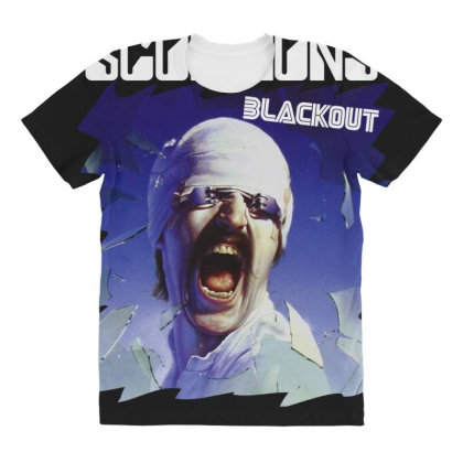 Scorpions Blackout All Over Women's T-shirt Designed By Toldo