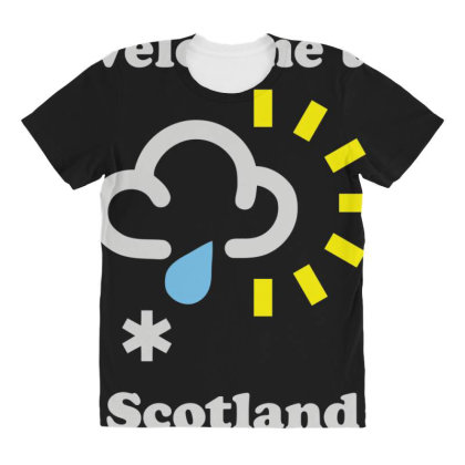 Scottish Weather All Over Women's T-shirt Designed By Toldo