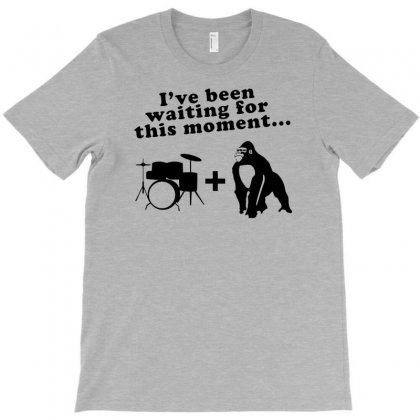 Gorilla + Drums T-shirt Designed By Gematees