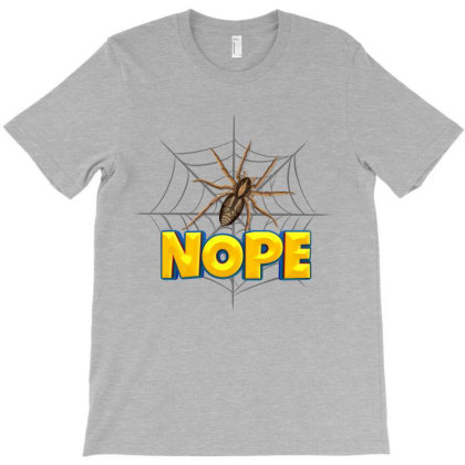 Spider Cartoon Character With Nope Typography T-shirt Designed By Dev18