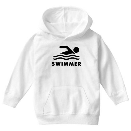 Youth Kids Swimming Swimmer Youth Hoodie