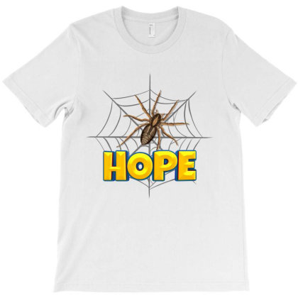 Spider Cartoon Character With Hope Typography T-shirt Designed By Dev18