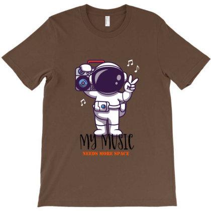Astronaut Music Universe T-shirt Designed By Dev18