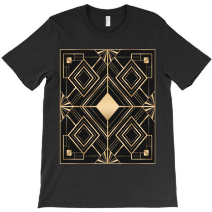 Frame With Geometric Patterns T-shirt Designed By Aa-kudus