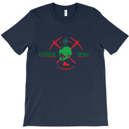 Extreme Hiking T-shirt Designed By Dev18