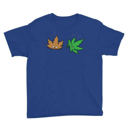 Relaxed Leaf! Youth Tee Designed By Raffiti