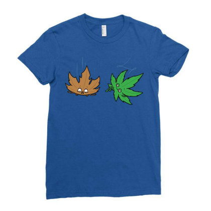 Relaxed Leaf! Ladies Fitted T-shirt Designed By Raffiti