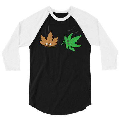 Relaxed Leaf! 3/4 Sleeve Shirt Designed By Raffiti