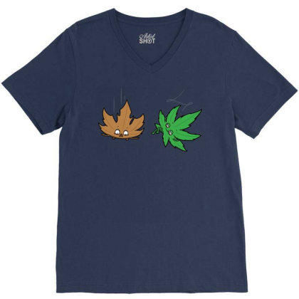 Relaxed Leaf! V-neck Tee Designed By Raffiti