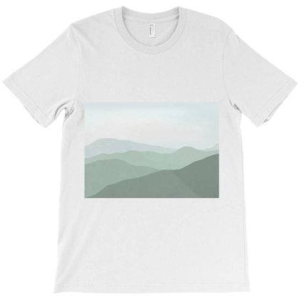 Green Mountain Range Landscape T-shirt Designed By Aa-kudus