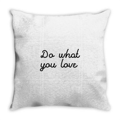 Do What You Love Throw Pillow Designed By Zee Arunika
