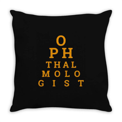 Ophthalmologist Charts Funny Throw Pillow Designed By Jasmine Tees