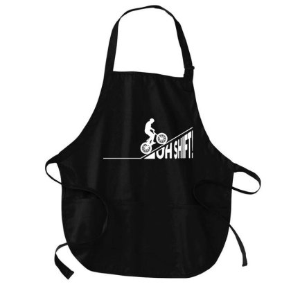Oh Shift! Bicycle Gift Ide Bike Cycling Medium-length Apron Designed By Jasmine Tees