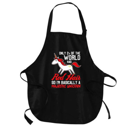 Only 2 % Of The World Has Red Hair Medium-length Apron Designed By Jasmine Tees