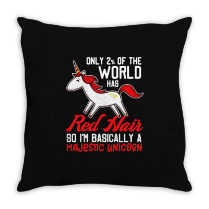 Only 2 % Of The World Has Red Hair Throw Pillow Designed By Jasmine Tees