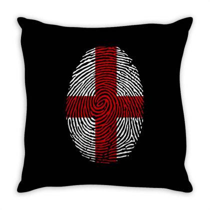 Flag England Euro 2021 Fingerprint Throw Pillow Designed By Jetstar99