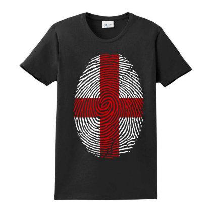 Flag England Euro 2021 Fingerprint Ladies Classic T-shirt Designed By Jetstar99