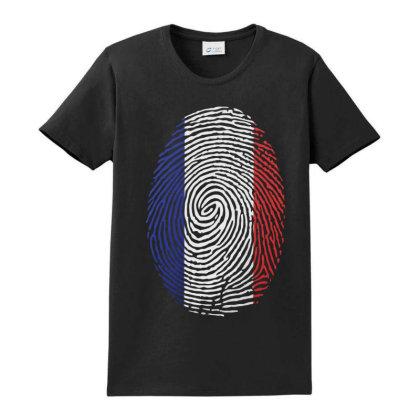 Flag France Euro 2021 Fingerprint Ladies Classic T-shirt Designed By Jetstar99