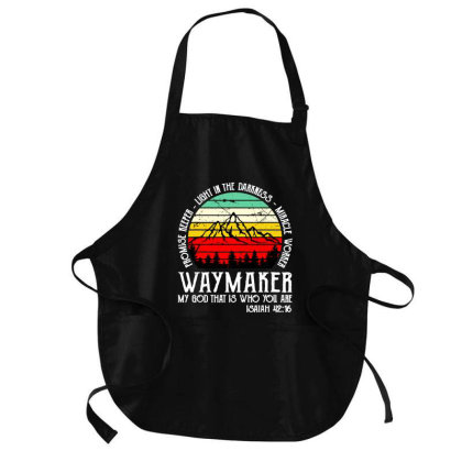 Way Maker My God That Is Who You Are Medium-length Apron Designed By Hot Maker