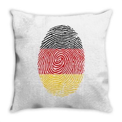 Flag German Euro 2021 Fingerprint Throw Pillow Designed By Jetstar99