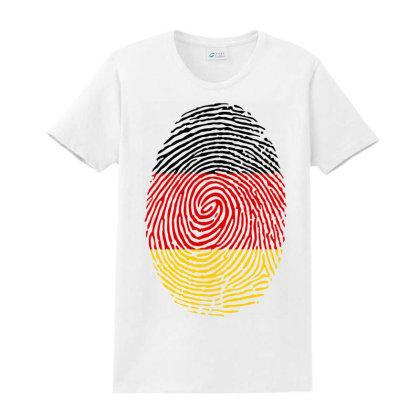 Flag German Euro 2021 Fingerprint Ladies Classic T-shirt Designed By Jetstar99