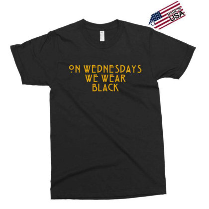 On Wednesdays We Wear Black Exclusive T-shirt Designed By Jasmine Tees