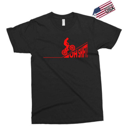 Oh Shift! Bicycle Gift Ide Bike Cycling Exclusive T-shirt Designed By Jasmine Tees