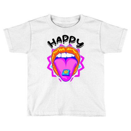 Happy Sniffing Vintage Toddler T-shirt Designed By Hot Maker
