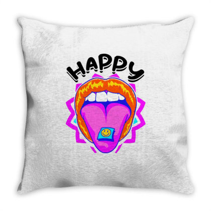 Happy Sniffing Vintage Throw Pillow Designed By Hot Maker