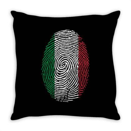 Flag Italy Euro 2021 Fingerprint Throw Pillow Designed By Jetstar99
