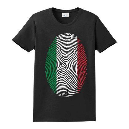 Flag Italy Euro 2021 Fingerprint Ladies Classic T-shirt Designed By Jetstar99
