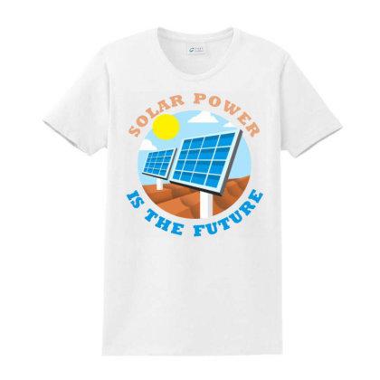 Save Energy Ladies Classic T-shirt Designed By Ciko Prasetyawan