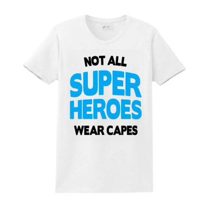 Not All Super Heroes Ladies Classic T-shirt Designed By Jasmine Tees